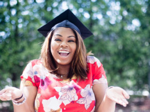 Graduate Celebrating Higher Education In Business Management